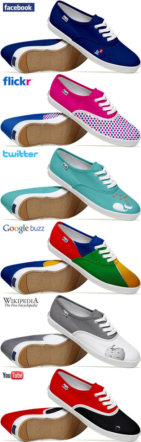 [trop geek] Social Media Shoes : Les baskets aux couleurs des réseaux sociaux – Waebo - Actualité web | Social Media Curation par Mon Habitat Web | Scoop.it