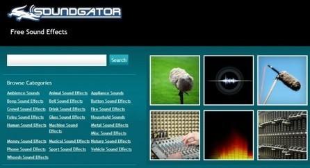 Des effets sonores gratuits, SoundGator   Les Infos de Ballajack   Boite à outils   Scoop.it