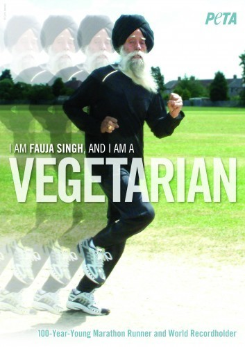 Fauja Singh: 100 Years Old, World Record Holder, Vegetarian «  Animal Writes: PETA Foundation's Blog | Health and Nutrition | Scoop.it