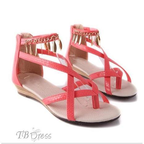 New Lovely Pink Flat Heels PU Upper Women Shoes   fashion numbleone   Scoop.it