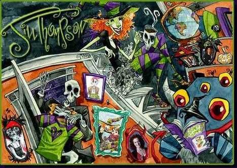 Jill Thompson - Scary Godmother - Comic Art For Sale | Halloween & Spooky Fun Stuff~ | Scoop.it