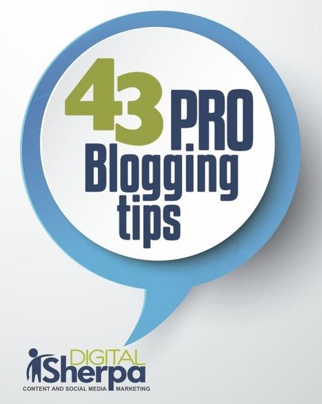 Free eBook: 43 Pro Blogging Tips and Tricks | Entrepreneurs | Scoop.it
