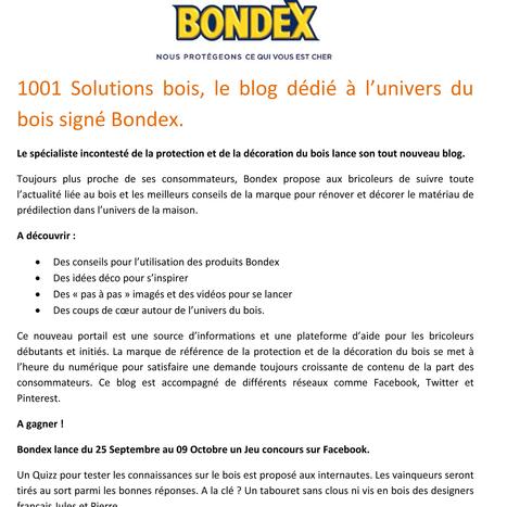 1001 Solutions bois, le blog dédié à l'univers du bois signé Bondex.   Bricolage   Scoop.it