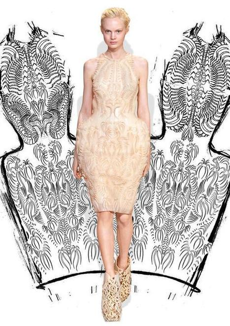 Inspired by Science: Iris van Herpen's latest dress is made with dragon skin and 3D printing | INDUSTRY 4.0: Additive Manufacturing | Scoop.it