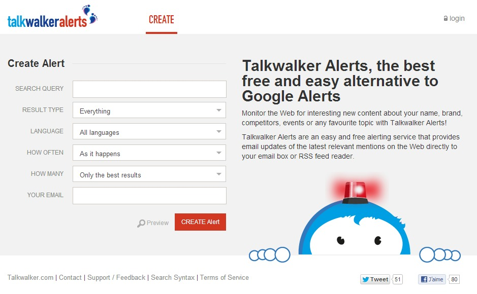 Talkwalker Free Alerts,the best free and easy alternative to Google Alerts