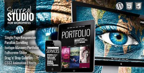 Surreal - One Page Parallax WordPress Theme Download | Scoop it | Scoop.it