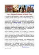 Learn Russian Grammar | languages | Scoop.it