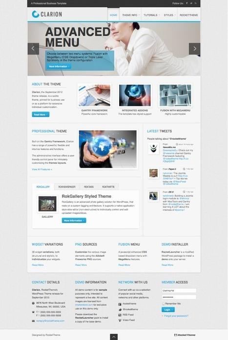 Clarion Responsive WordPress Theme | Sablon Kaos Digital | Scoop.it