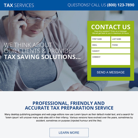 tax saving service and solution lead generating lading page | converting and effective landing page designs | Scoop.it