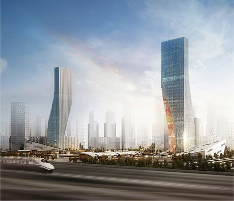 spatial practice frames harbin twin towers as digital gateway | Design & Architecture | Scoop.it