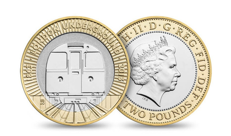 2 pound coin by barberosgerby for 150th anniversary of the london underground | Eye on concepts | Scoop.it