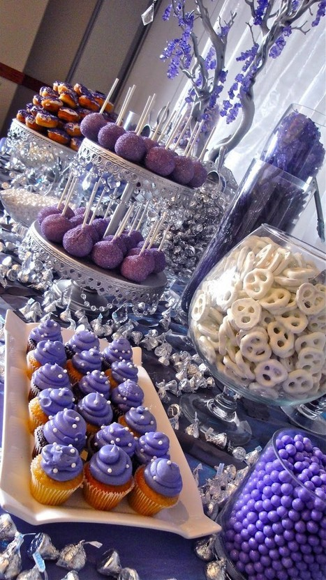 Party Ideas purple theme dessert buffet | Invitations By Dannye | Scoop.it