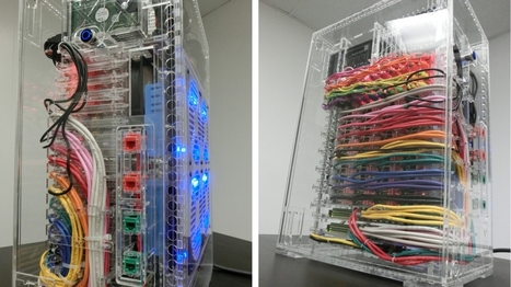 40-node Raspberry Pi cluster hides behind a rainbow of cables - Geek | Arduino, Netduino, Rasperry Pi! | Scoop.it