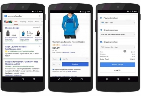 Google lance un bouton «acheter» sur smartphones | Mobile marketing - Mobile advertising - M commerce | Scoop.it