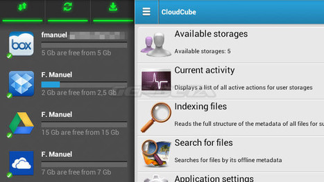CloudCube, controla varios servicios de almacenamiento en la nube desde Android | La Tesis 2.0 | Scoop.it
