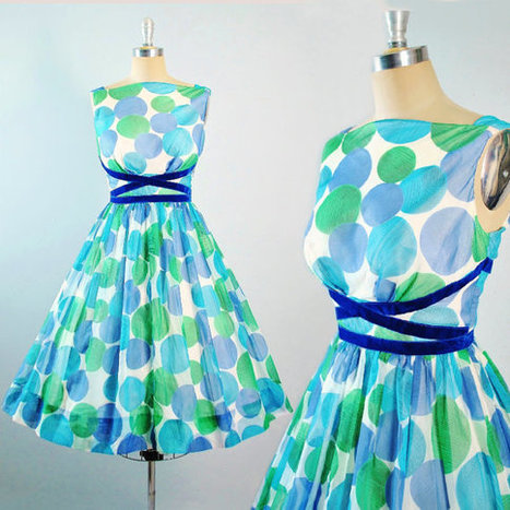 Vintage 50s Party Dress | whats been spotted on etsy today? | Scoop.it