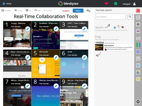 Collect and Organize Learning Resources Into Embeddable Collections with Blendspace | School Librarians | Scoop.it