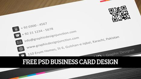 Creative Print Ready PSD Business Card Design | Freebies | freebies | Scoop.it