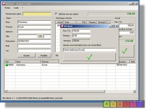 BDClient (nouvelle version 1.7.0), logiciel (Gratuit) de base de donnée clients avec historique d'achats et bon d'achat | my scoop it | Scoop.it