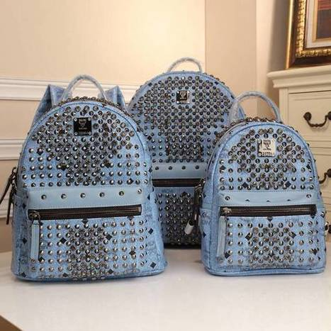 New MCM Stark BackPack Blue Black Small Middle Large [mcmbackpack-055] - $186.00 : | I found the Bags Home | Scoop.it