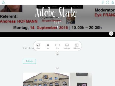 Ein weiteres tolles Präsentations- und Storytellingtool von Adobe: Adobe Slate | Moodle and Web 2.0 | Scoop.it