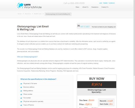 Buy Targeted Otolaryngologist Email List from ListsWorldWide   ListsWorldWide   Scoop.it
