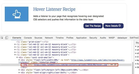 Get the Recipe: Hover Tracking in Google Tag Manager | Online Marketing Resources | Scoop.it