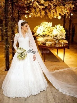 Cheap White A-Line Applique Lace Wedding Dresses Sale at Amydress.co.uk | amydress | Scoop.it