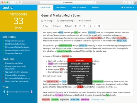 Textio, A Startup That Analyzes Text Performance, Raises $8M | Tools You Can Use | Scoop.it