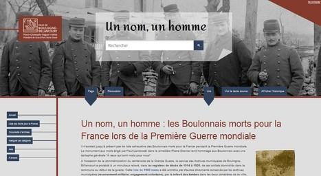 Un nom, un homme : les Boulonnais morts pour la France lors de la Première Guerre mondiale — wikivbb | Nos Racines | Scoop.it