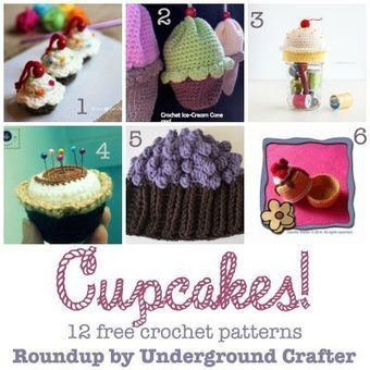 Roundup: 12 free crochet patterns featuring cupcakes | Crochet Patterns and Tutorials | Scoop.it