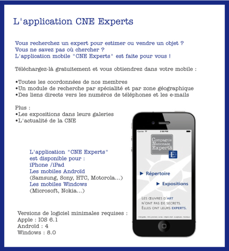 "L'application mobile CNE Experts | ""L'Expert-Marchand"" 