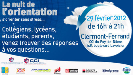 ONISEP - Nuit de l'orientation, le 29 février à Clermont-Ferrand | lorientationaucollègeetaulycée | Scoop.it