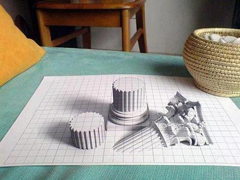 Twitter / IlusionOpticaEs: Genial dibujo en 3D ...   Pintura   Scoop.it