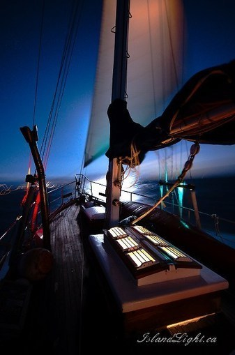 Night Sailing ~ Boating photo from Salish Sea British Columbia, Canada - Island Light Photography | I love boating | Scoop.it