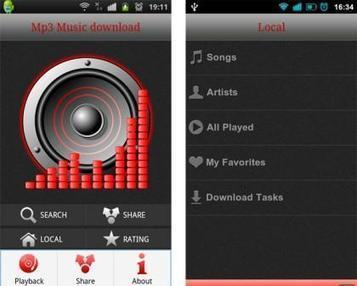 Top 5 free music apps for Android | Techoroid.com | Top 10 android apps 2014 | Scoop.it