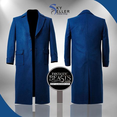 Fantastic Beasts Magizoologist Blue Wool Coat   Sky-Seller : Men Leather Jackets   Scoop.it