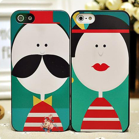 $ 45.99 Sweet Painting Beard Red Lips Couple Carrying Case for iPhone 5/5S | iPhone cases | Scoop.it