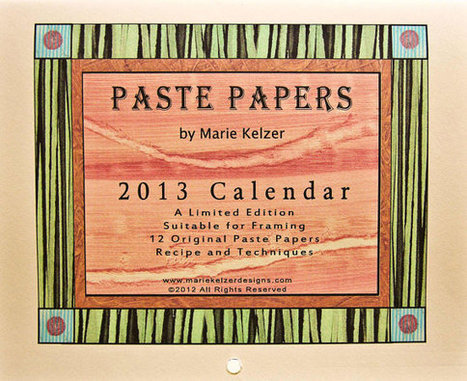 2013 Wall Calendar  - Paste Paper Patterns - Limited Edition Signed | Made with (and of) Paper | Scoop.it