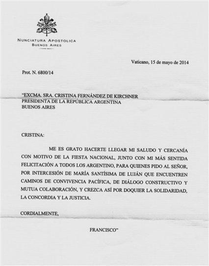 Una falsa carta del Papa a la Presidenta detonó un escándalo inédito | Las noticias que importan a la gente | Scoop.it