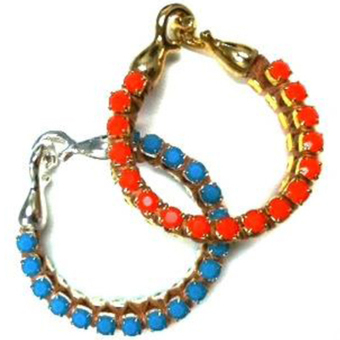 Calinana Crystal Leather Bracelet Turquiose/Silver or Orange/Gold | Arm Candy - Hottest Jewelry Trends 2013 | Scoop.it