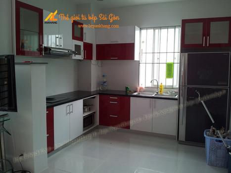 Tủ bếp đẹp anh THỌ - Bình Phước TBAK359. | Tủ bếp, Bếp An Khang tạo dấu ấn cho ngôi nhà VIỆT 0839798355 | Scoop.it