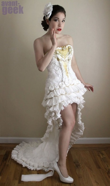 Can You Believe This Gorgeous Dress Is Made Almost Entirely Out of Toilet Paper | Strange days indeed... | Scoop.it