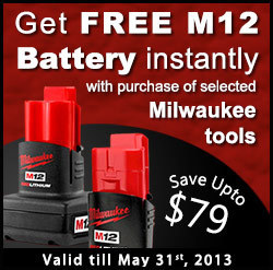 FREE Milwaukee M12 Battery | Online Power Tools Shopping | Scoop.it