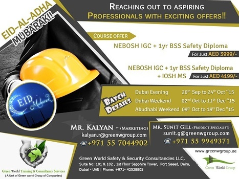 EID OFFER - NEBOSH COURSE IN UAE | Nebosh courses | Scoop.it