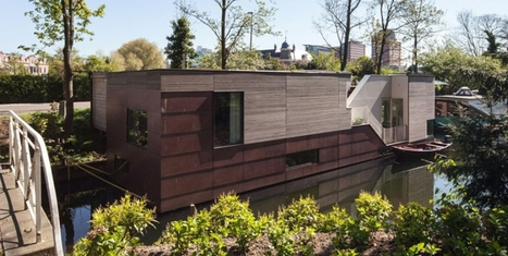 [Maison du jour] Charmante maison flottante en bois sur les canaux hollandais | décoration & déco | Scoop.it