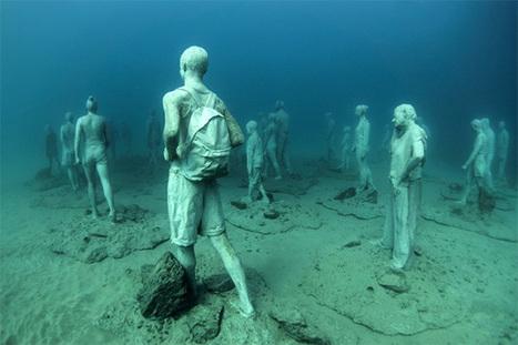 En Espagne, le premier musée sous-marin d'Europe rend hommage aux migrants - Exponaute   Educnum   Scoop.it