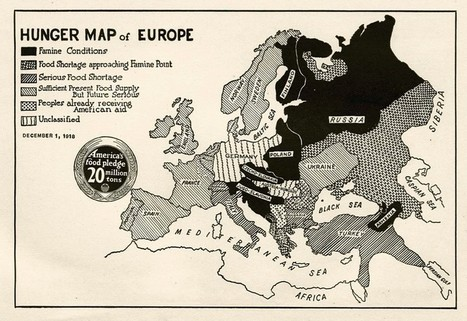 """A Post–World War I """"Hunger Map of Europe,"""" Aimed at the Hearts of American Kids 