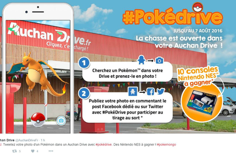 #Pokemonop #ButAttrapezLesTous : toutes les opérations Pokémon Go organisées par la grande distribution | Tendances digitales | Scoop.it