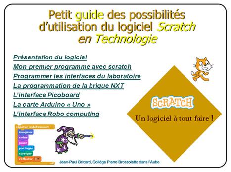 Les enseignant(e)s sont formidables n°221 : Scratch et laboratoire de technologie | | Ressources informatique et classe | Scoop.it